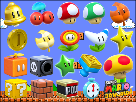 Look at all these power ups! Just seeing them brings back so many good memories from this game