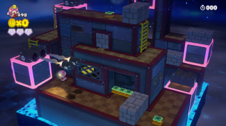 The pink blocks in this level can be moved around using the Game pad's touch screen. This adds an extra level of interactivity not usually associated with a Mario game